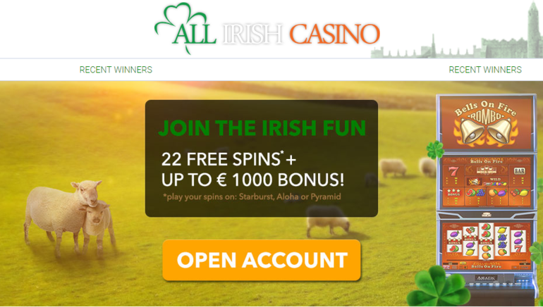 Join the Party with an All Irish Casino Welcome Offer