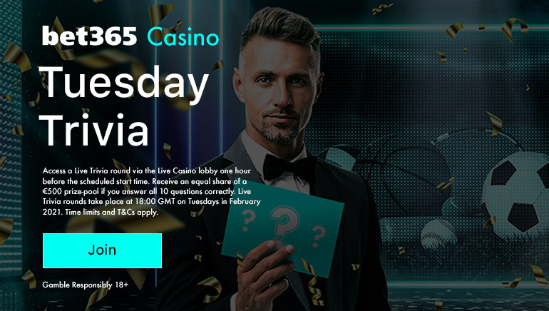 bet365 Launches Sports-Themed Tuesday Trivia this February