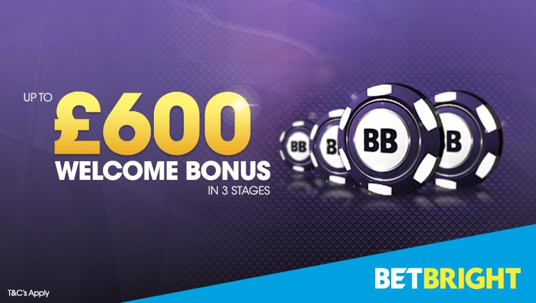 Sign Up for a £600 Welcome Bonus at BetBright Casino