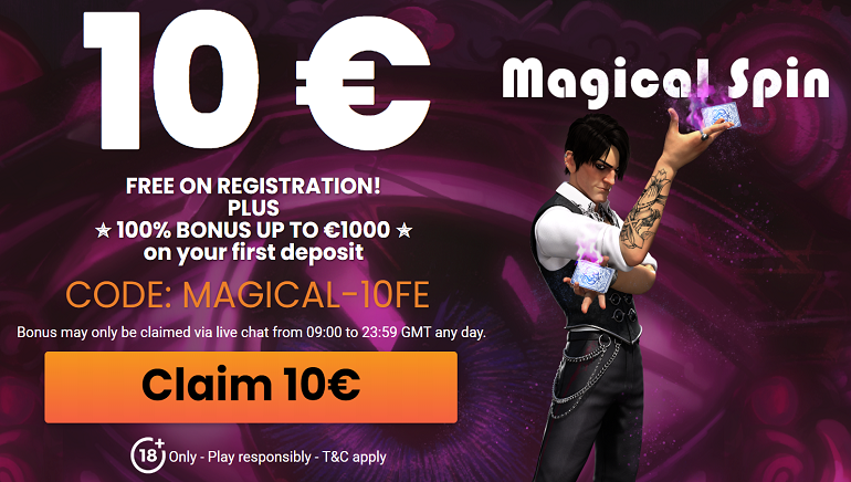 Exclusive €10 Free Bonus Available at MagicalSpin Casino