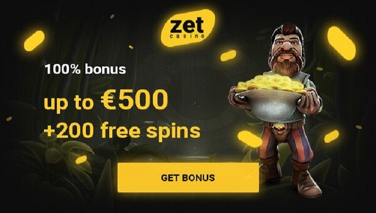 Join Zet Casino for a €500 Bonus and 200 Free Spins
